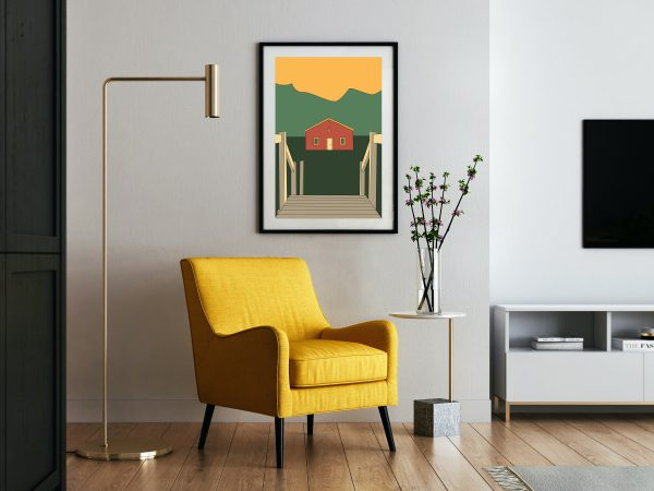 AFFICHE POSTER GRAPHISTE PAYSAGE PAYS BASQUE