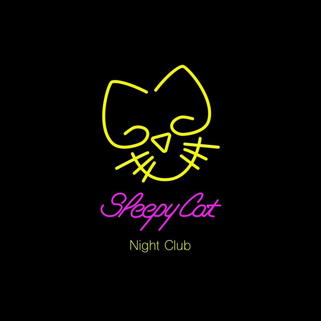 identité visuelle graphiste logo boite de nuit discothéque chat
